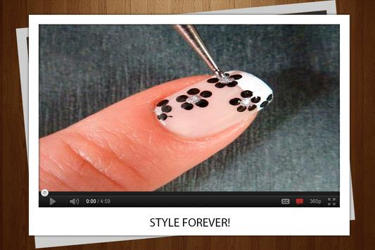 Flower manicure poster