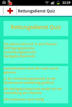 Rettungsdienst Quiz poster