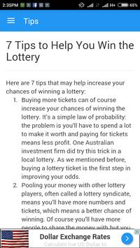 Florida Lottery App Tips screenshot 1