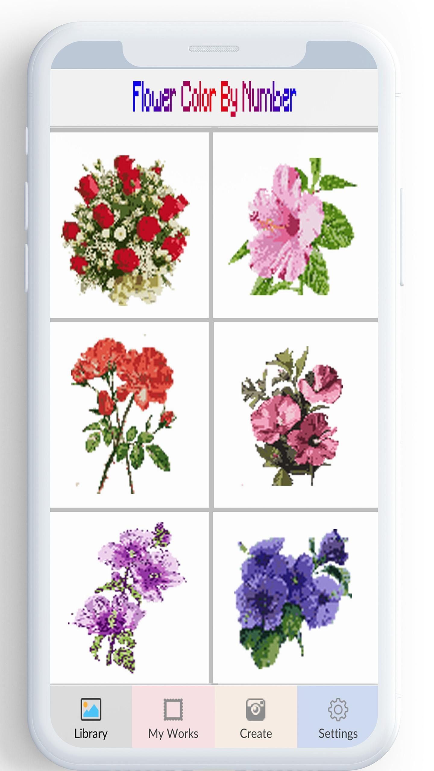Flower Color By Number Flower Coloring Pages For Android Apk Download