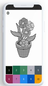Flower Color By Number, flower coloring pages screenshot 10