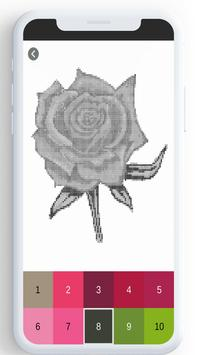 Flower Color By Number, flower coloring pages screenshot 21