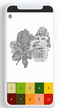 Flower Color By Number, flower coloring pages screenshot 23