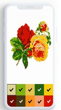 Flower Color By Number, flower coloring pages screenshot 2