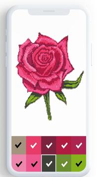 Flower Color By Number, flower coloring pages screenshot 4