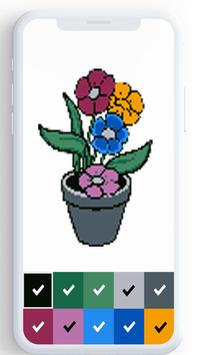 Flower Color By Number, flower coloring pages screenshot 6