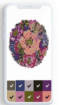 Цветочный цвет по номеру, цветные раскраски скриншот 8