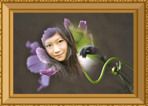 Flowers Photo Frame poster