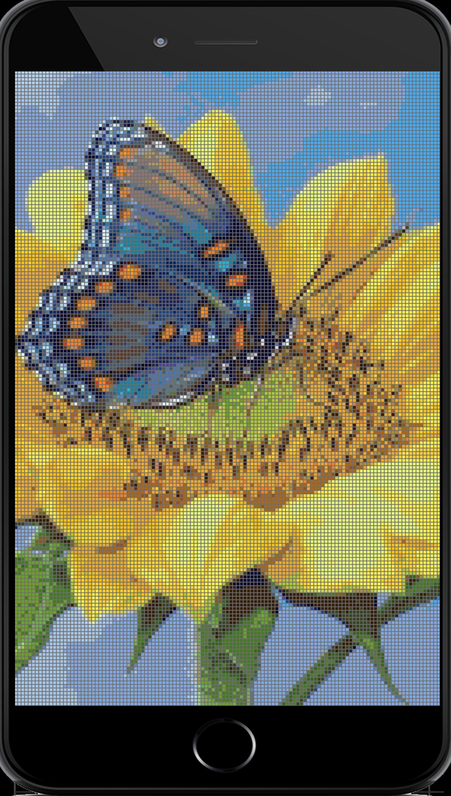 Color By Number Sandbox Coloring Flowers Pixel Art Für