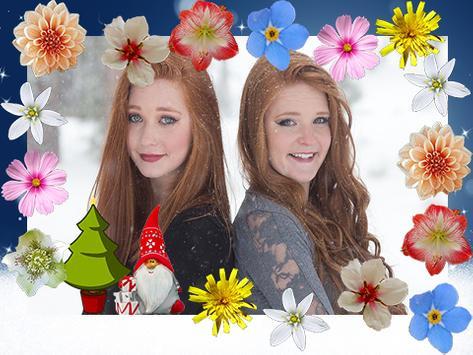 Winter Flowers Photo Frames screenshot 2