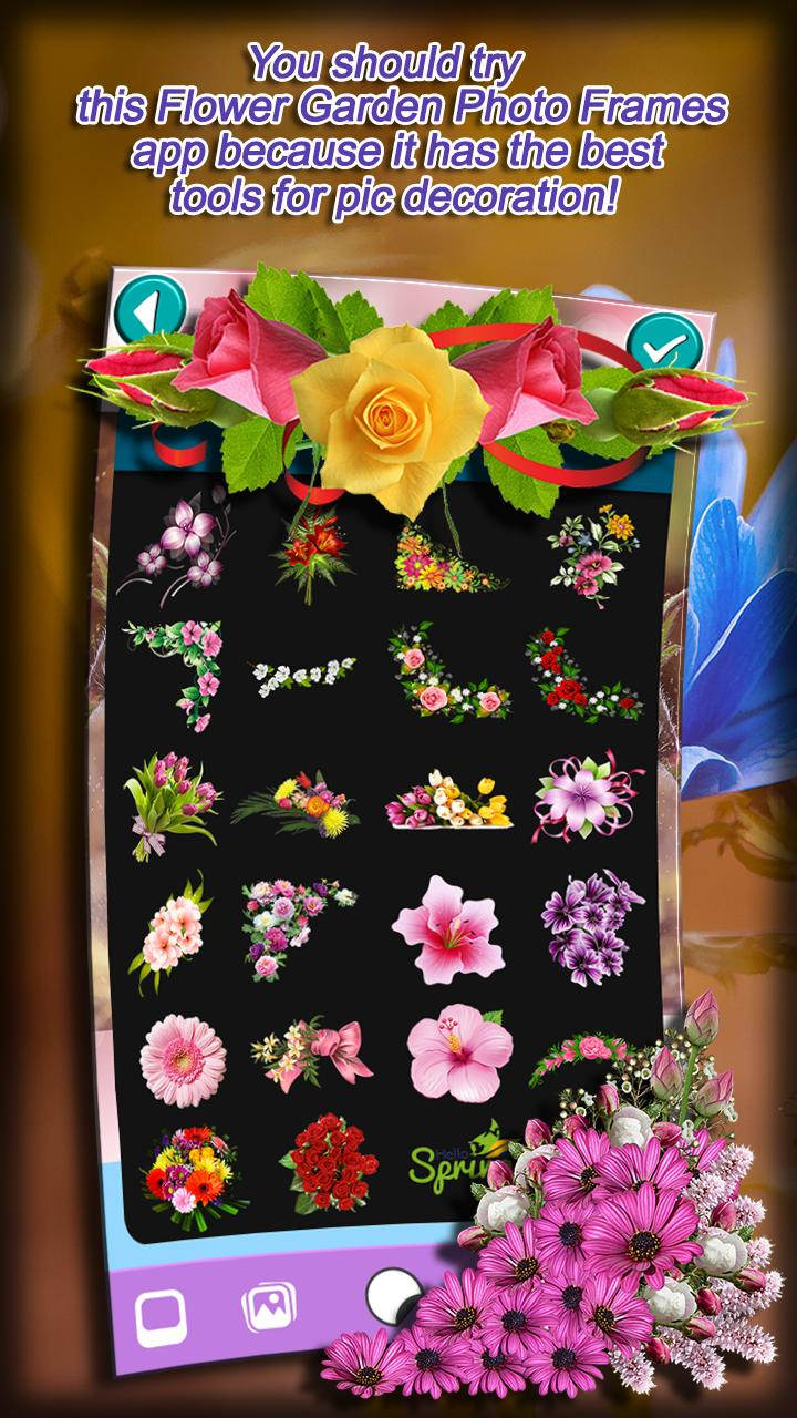 flower garden photo frames for android - apk download