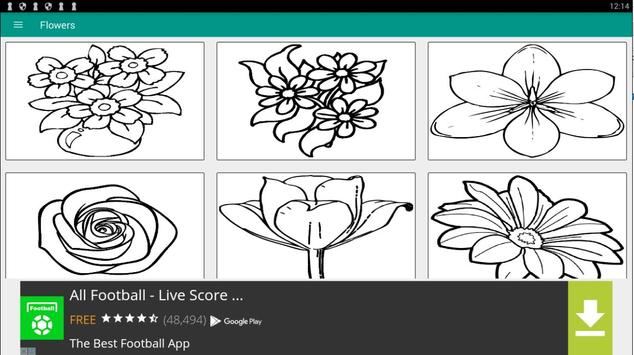 FLOWER Coloring Book Pages FREE screenshot 4