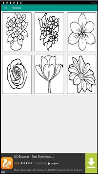 FLOWER Coloring Book Pages FREE screenshot 1