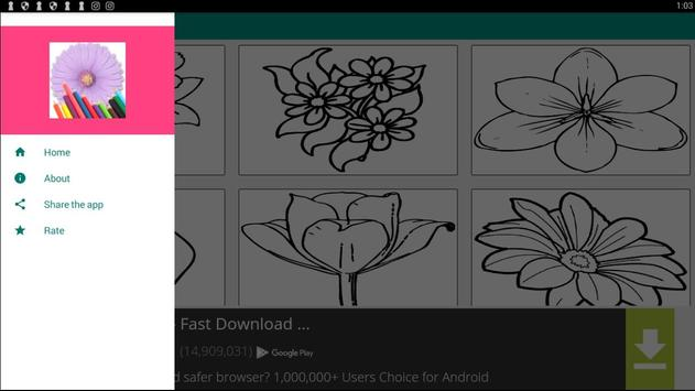 FLOWER Coloring Book Pages FREE screenshot 3