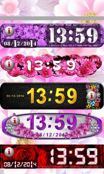 Flowers Clock Widget poster