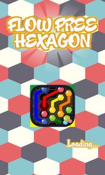 Hexagon Flow Free poster