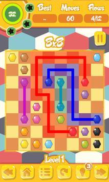 Hexagon Flow Free screenshot 5
