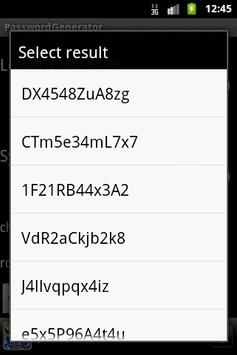 PasswordGenerator apk screenshot