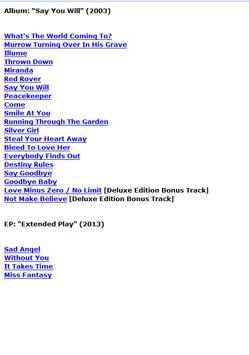 Fleetwood Mac Lyrics apk screenshot