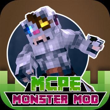 MODS DANGER MONSTER For MCPE poster