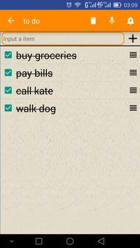 Easy Check list screenshot 2
