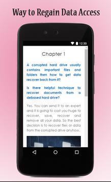 Recover Corrupted Data Guide apk screenshot