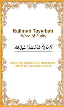 Six Islamic Kalimah poster