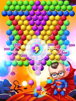 super hero baby bubble shooter poster