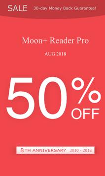 Moon+ Reader (8th anniversary, Pro 50% OFF)-poster