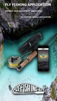 Fly fishing application poster