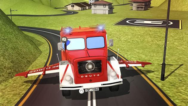 Flying Firefighter Truck 2016 apk screenshot