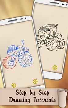 Easy Draw Blaze Monster Machines screenshot 5