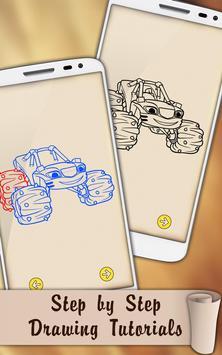 Easy Draw Blaze Monster Machines screenshot 1
