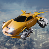 Futuristic Flying Cars Shooting Tussle icon