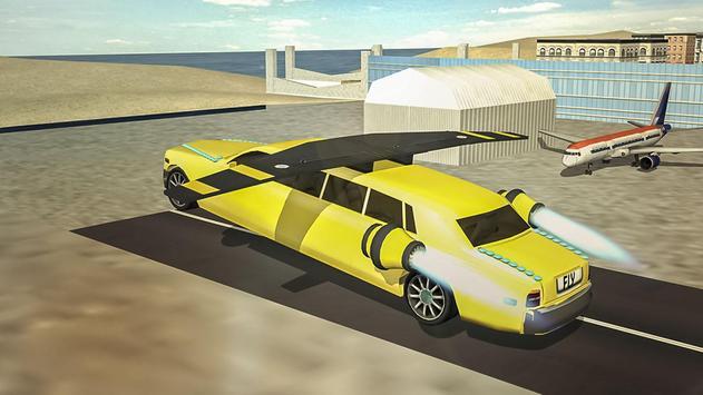 Flying Limo Car Simulator screenshot 1