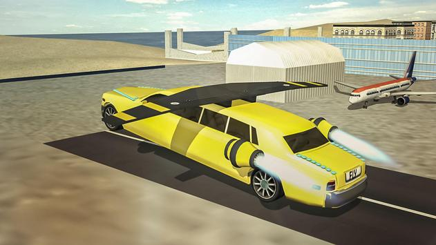 Flying Limo Car Simulator screenshot 7