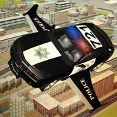 Flying Police car 3d simulator icon