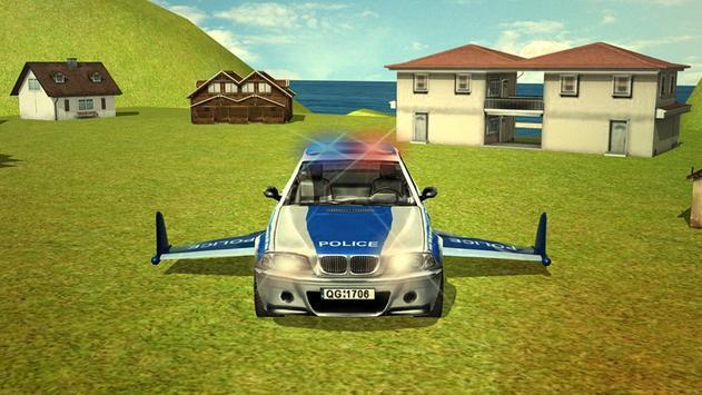 Flying Police car 3d simulator screenshot 3