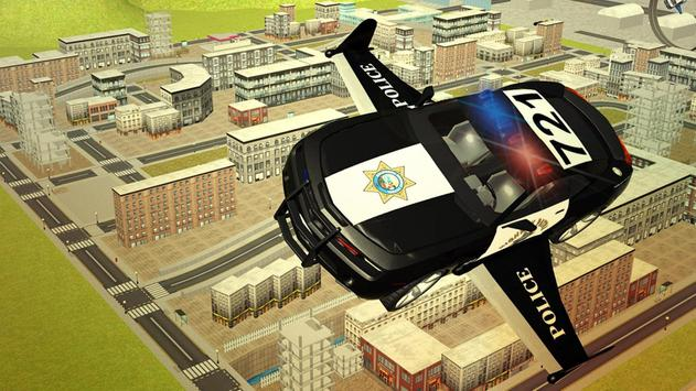 Flying Police car 3d simulator poster
