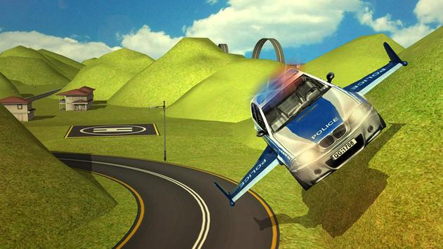 Flying Police car 3d simulator screenshot 2