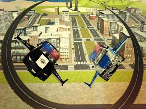 Flying Police car 3d simulator apk screenshot