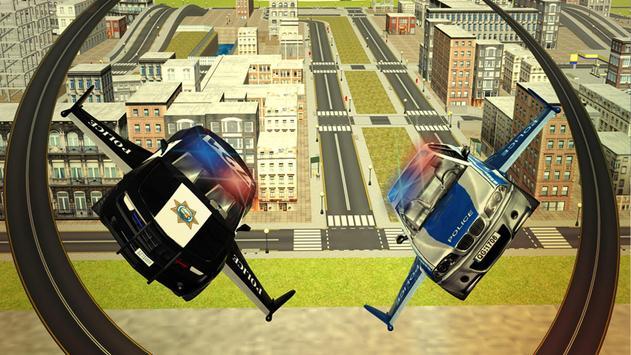 Flying Police car 3d simulator screenshot 9