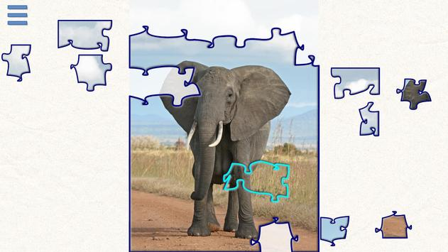 Safari Jigsaw animal puzzles poster