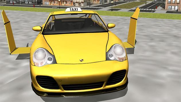 Flying Taxi car simulator poster