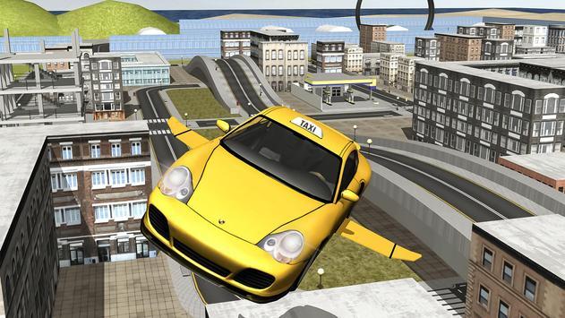 Flying Taxi car simulator apk screenshot