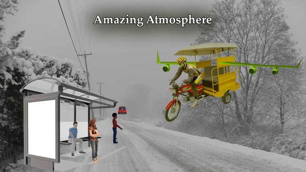 Flying Tuk Tuk Simulator 3D poster