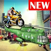 Flying Helicopter Moto Bike 3D icon