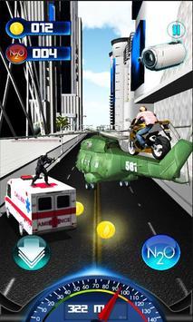 Flying Helicopter Moto Bike 3D poster