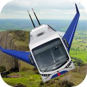 Flying Bus Simulator 3D 2017 icon