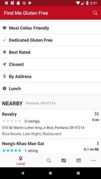 Find Me Gluten Free captura de pantalla de la apk